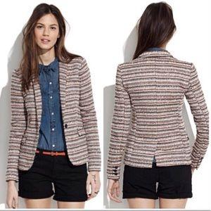 Madewell Striped Tweed Blazer